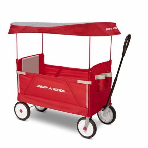 Radio Flyer 3-in-1 EZ Fold Wagon with Canopy Perspective: front