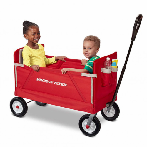 Radio Flyer 3955Z 3-in-1 All-Terrain EZ Fold Wagon Perspective: front