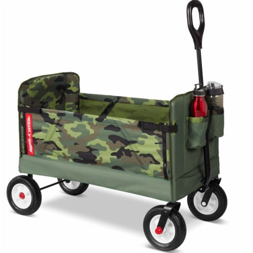 Radio Flyer 3-in-1 Off Road Camo Wagon Perspective: front