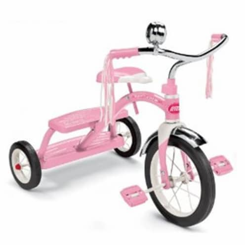 Radio Flyer 33P Girls Classic Pink Dual Deck Tricycle Perspective: front