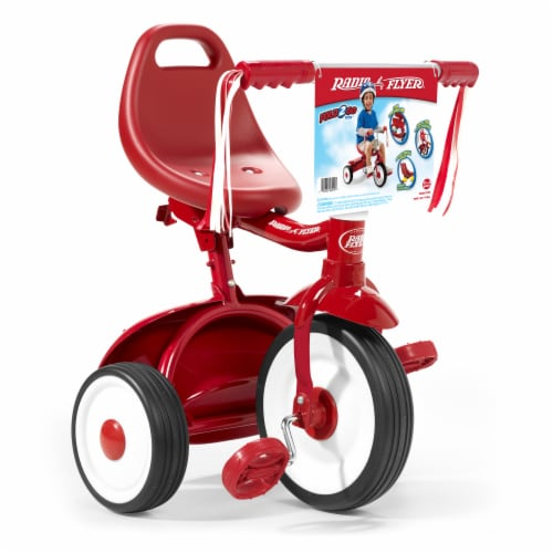 Radio Flyer Fold 2 Go Tricycle - Red Perspective: front