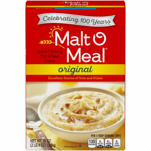Malt-O-Meal Original Quick Cooking Hot Wheat Cereal Perspective: front