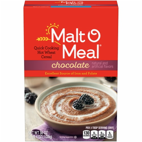 Malt-O-Meal Chocolate Hot Wheat Cereal Perspective: front