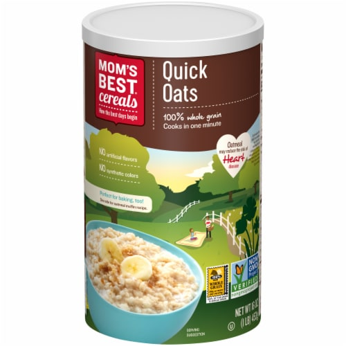 Mom's Best Quick Oats Perspective: front