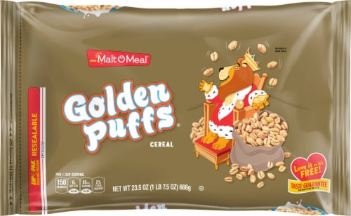 Malt-O-Meal Golden Puffs Cereal Perspective: front
