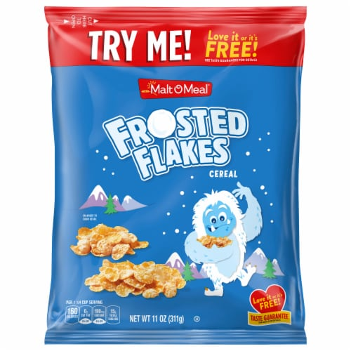 Malt-O-Meal Frosted Flakes Cereal Perspective: front