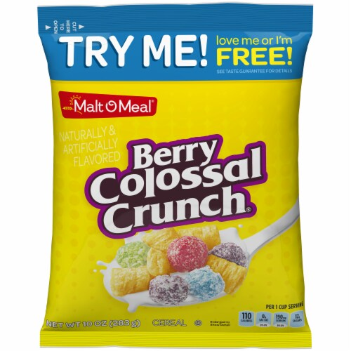 Malt-O-Meal Berry Colossal Crunch Cereal Perspective: front