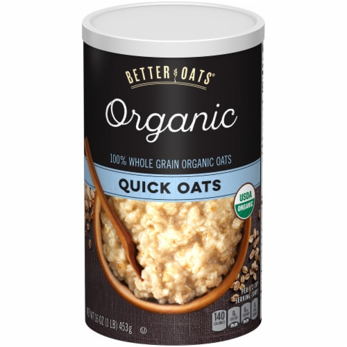 Better Oats Organic Whole Grain Quick Oats Perspective: front