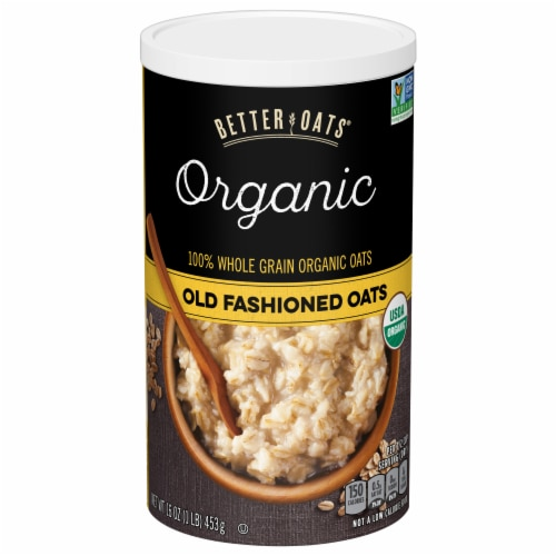 Better Oats Organic Old Fashioned Oats Perspective: front