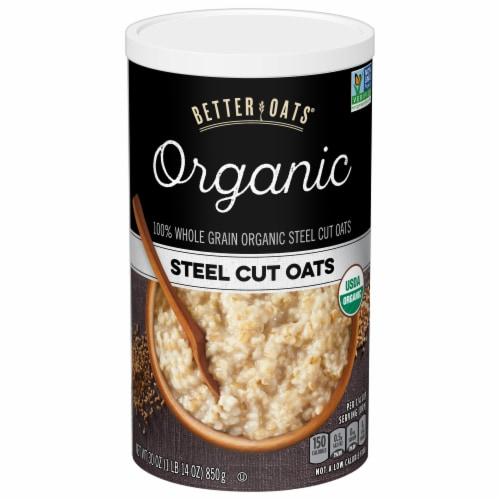 Better Oats Organic Whole Grain Steel Cut Oats Perspective: front