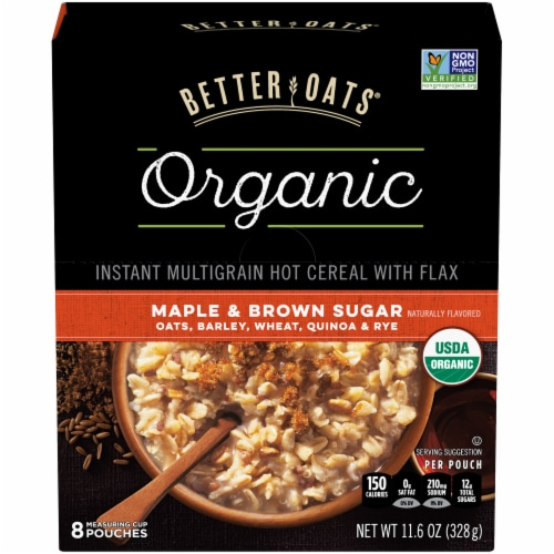 febcc5f6365 Better Oats Organic Maple   Brown Sugar Instant Multigrain Hot Cereal with  Flax