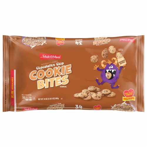 Malt-O-Meal Chocolatey Chip Cookie Bites Cereal Perspective: front