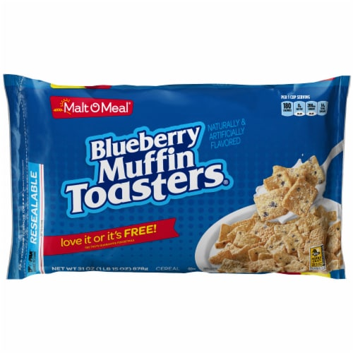 Malt-O-Meal Blueberry Muffin Toasters Cereal Perspective: front