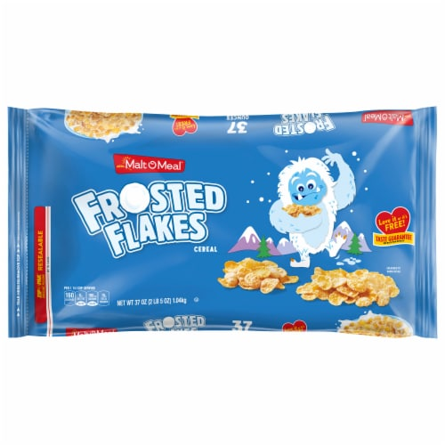 Malt-O-Meal Frosted Flakes Cereal Zip-Pak Perspective: front