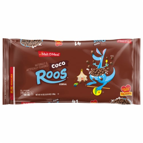 Malt-O-Meal Coco Roos Cereal Zip Pak Perspective: front