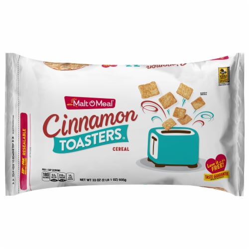Malt-O-Meal Cinnamon Toasters Cereal Zip-Pak Perspective: front