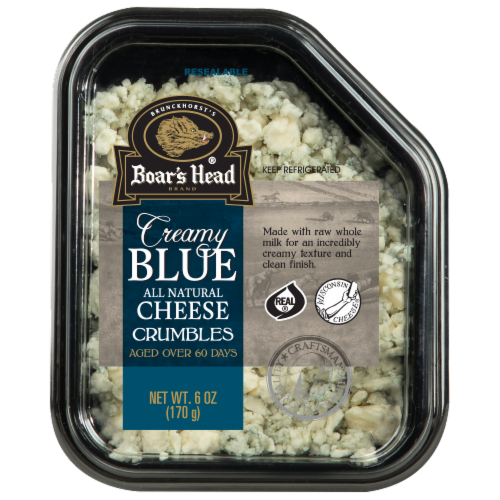 Boar's Head Creamy Blue Cheese Crumbles Perspective: front