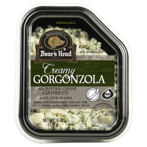 Boar's Head Crumbled Gorgonzola Cheese Perspective: front
