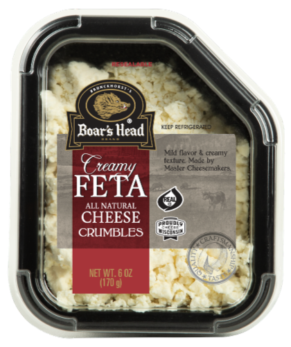 Boar's Head Creamy Feta Cheese Crumbles Perspective: front