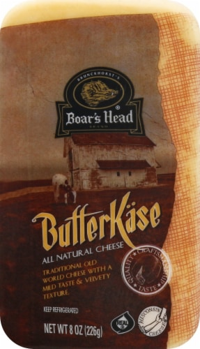 Boar's Head Butterkase Cheese Perspective: front