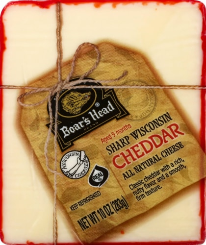Boar's Head Sharp Wisconsin Cheddar Cheese Perspective: front