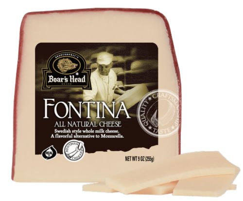 Boar's Head Fontina Cheese Perspective: front