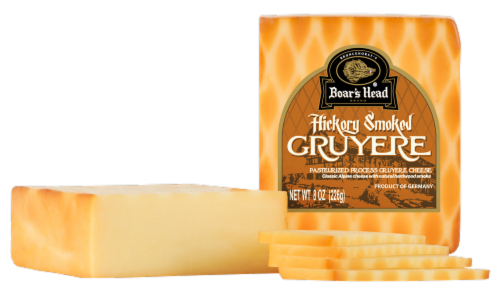 Boar's Head Smoked Gruyere Cheese Perspective: front