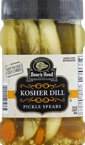 Boar's Head Kosher Dill Pickle Spears Perspective: front