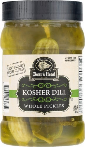 Boar's Head Kosher Whole Dill Pickles Perspective: front
