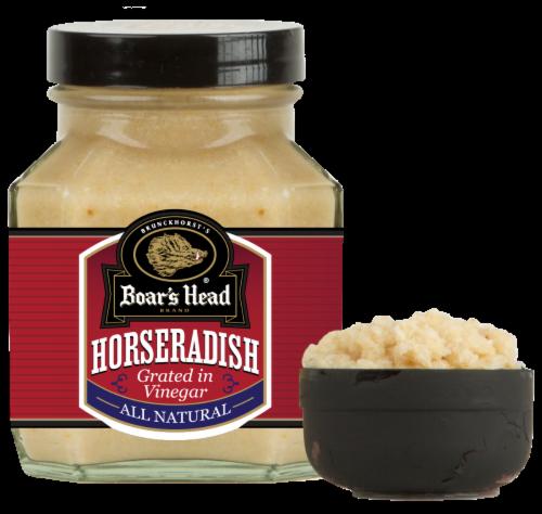 Boar's Head Horseradish Grated in Vinegar Perspective: front