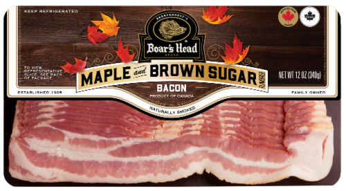 Boar's Head Maple Brown Sugar Flavored Bacon Perspective: front