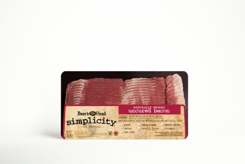 Boar's Head Simplicity All Natural Uncured Bacon Perspective: front
