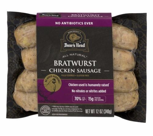 Boar's Head Bratwurst Chicken Sausage Perspective: front