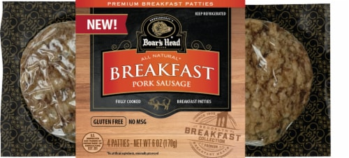 Boar's Head® All Natural Breakfast Pork Sausage Patties Perspective: front