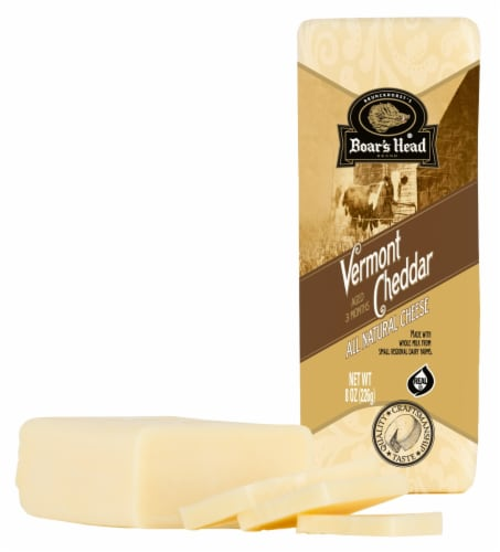 Boar's Head Vermont White Cheddar Cheese Perspective: front