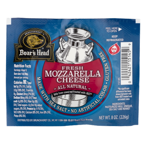 Boar's Head Fresh Mozzarella Cheese Ball Perspective: front