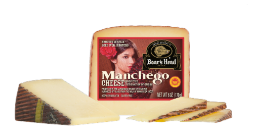 Boar's Head Manchego Cheese Cut Perspective: front