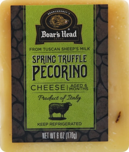 Boar's Head Spring Truffle Pecorino Cheese Perspective: front