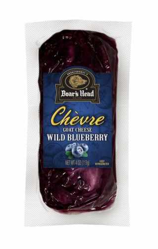 Boar's Head Wild Blueberry Chèvre Goat Cheese Log Perspective: front