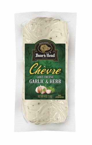 Boar's Head Garlic and Herb Chèvre Goat Cheese Log Perspective: front