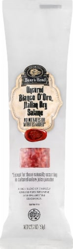Boar's Head Bianco D'Oro Italian Dry Salame Perspective: front