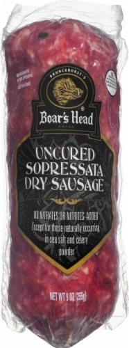 Boar's Head Uncured Sopressata Perspective: front