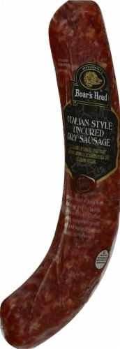 Boar's Head Uncured Dry Italian Sausage Perspective: front