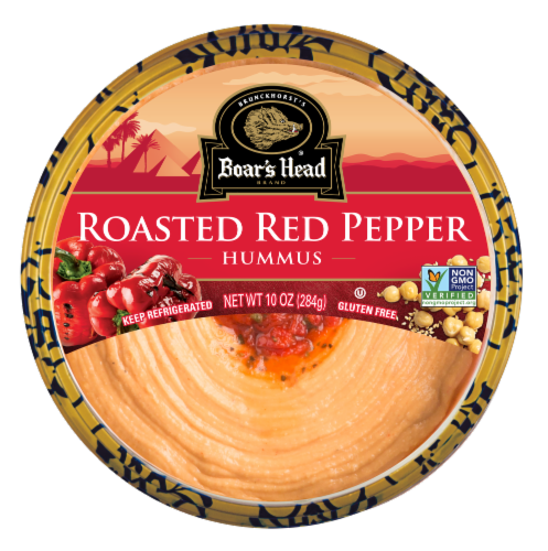 Boar's Head Roasted Red Pepper Hummus Perspective: front