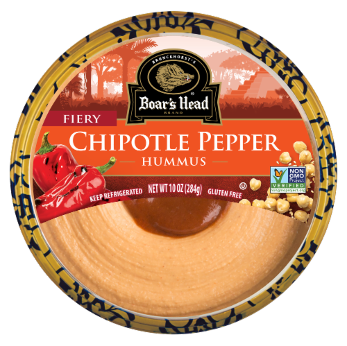 Boar's Head Fiery Chipotle Pepper Hummus Perspective: front