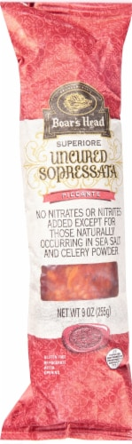 Boar's Head Superiore Uncured Sopressata Piccante Perspective: front