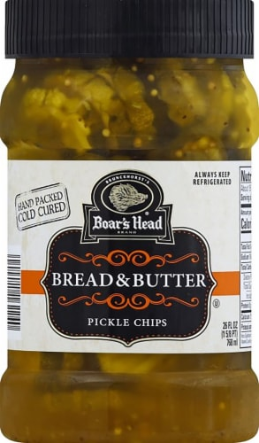 Boar's Head Bread & Butter Pickle Chips Perspective: front