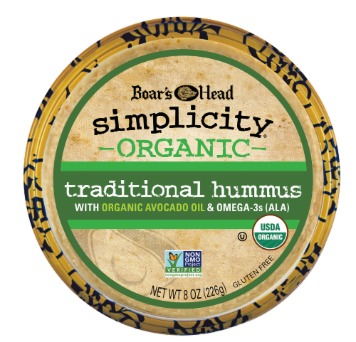 Boar's Head Simplicity Organic Traditional Hummus Perspective: front