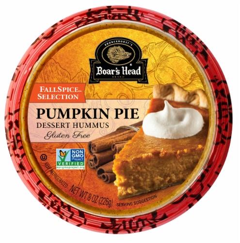 Boar's Head Seasonal Selection Pumpkin Pie Dessert Hummus Perspective: front