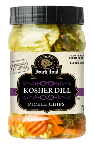 Boar's Head® Kosher Dill Pickle Chips Perspective: front